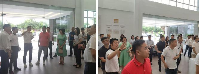 欧斯宝总裁马彩宣女士携协会会员交流学习