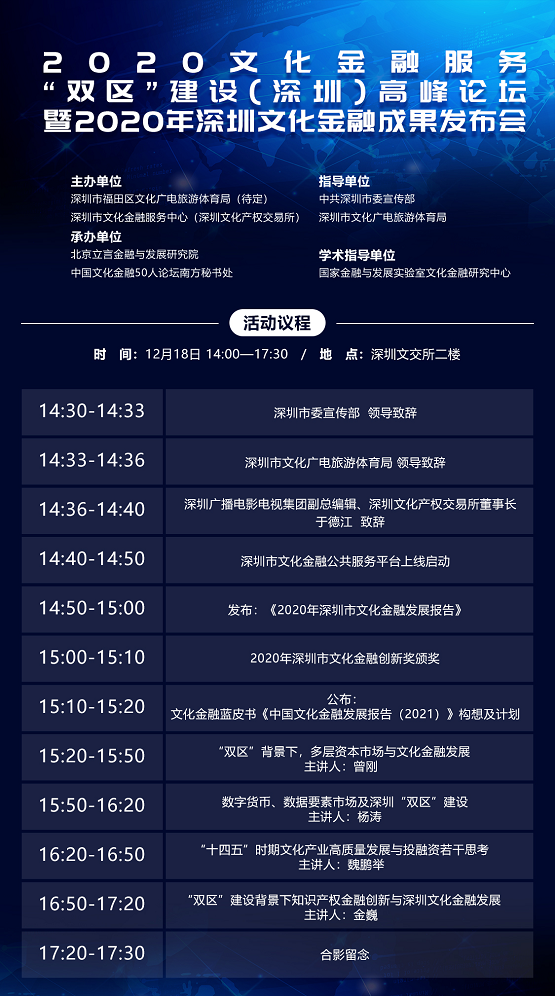"""服务""""双区""""建设 深圳文交所举办文化金融年度"""